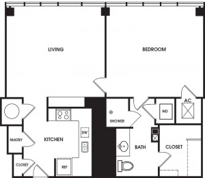 Typical One Bedroom
